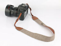 Retro Herringbone Brown Tweed Style Camera Neck Shoulder Strap DSLR - UK STOCK