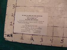 Vintage High Grade SKI card: SKI ONSET & CROTCHED bennington NH 1975