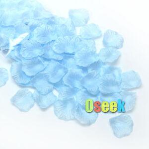 New Light blue Silk Rose Petals Confetti Artificial Flower Wedding Party Decor