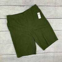 NWT New Coldwater Creek sz M Shorts Pull on Style Elastic Waist Bermuda