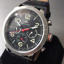 Mens Tommy Hilfiger Designer Watch Pilot Jake 1791232 Multi Dial Leather Genuine
