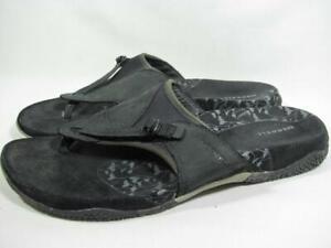Merrell Senise Sport Sandal Women size 10 Black Leather