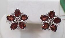Beautiful Natural Mozambique Garnet With 925 Sterling Silver Earrings. SSER0040