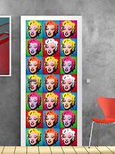 PT0038 Wall Stickers Adesivi Murali Adesivo Porta Marilyn pop art 100x210cm