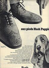 PUBLICITE  1970   HUSH PUPPIES  chaussures au pieds ça marche