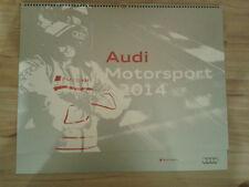 NEU Audi Motorsport Kalender 2014 Wandkalender DTM Le Mans Kalender Motor Sport