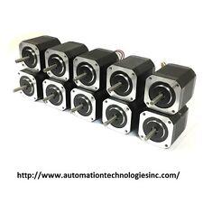 10 pcs NEMA17 Stepper Motor (KL17H248-15-4A) for 3D Printer, 76 oz-in