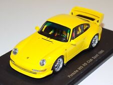 """1/43 Spark Porsche 911 """" 993 """" RS club Sport  from 1995 in Yellow  S4194"""