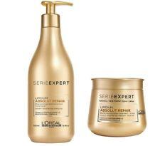 Loreal Absolut Repair Lipidium Shampoo 500ml + Maske 250ml - Serie Expert