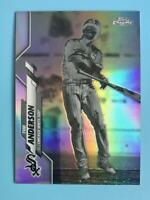 2020 Topps Chrome Tim Anderson Negative Refractor Parallel Chicago White Sox #90