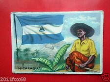 figurines cromos cards figurine sidam gli stati del mondo 52 nicaragua bandiere