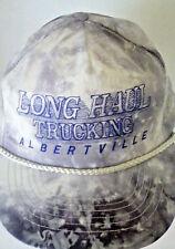"""VTG Trucker Hat """"Long Haul Trucking"""" Albertville MN Nylon Tie Dye Otto Cap H3"""
