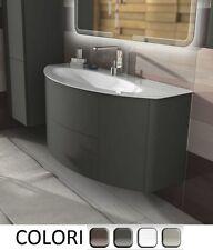 Mobile bagno da 90 120cm arredo moderno sospeso lavabo cristallo chiusura soft|7