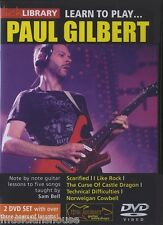 Lick Library Learn To Play Paul Gilbert Metal Shred Rock Guitarra Dvd Sam Bell