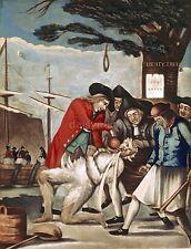 Boston Tea Party USA 1774 Tar & Feather Philip Dawe Excise Man 7x5 Inch Print