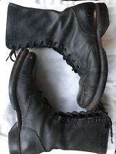 "VTG CORCORAN 10"" Combat Military Parachute Jump Boots Black Leather Men 9 USA"