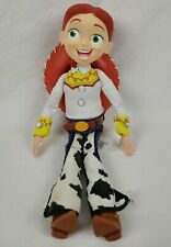 """Thinkway Disney Pixar Toy Story Jessie Talking Pull String Doll 14"""" With Hat"""