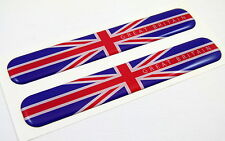 """Great Britain England Flag Domed Decal Emblem Resin car stickers 5""""x 0.82"""" 2pc."""