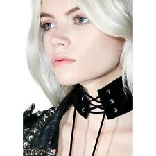Sexy Women's Lace Up Gothic Punk Choker Vintage Velvet Leather Necklace Jewelry