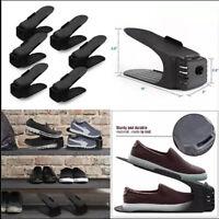 5/10Pack Black Easy Shoes Organizer Shoe Slots Space Saver Plastic Rack Storage