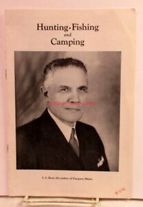 """L.L.Bean~""""Hunting-Fishing and Camping"""" Flyer~Book Prospectus~1957~Freeport,Maine"""