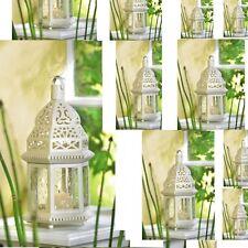 "10 Moroccan Style Lantern Creamy White Candleholder Wedding Centerpieces 12""Tall"