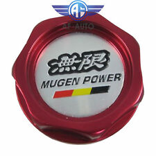New Red Engine Oil Filler Cap Tank Cover Mugen Aluminum For Honda Acura Civic