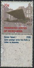 DORNIER DO C III KOMET je AVION AVIONS mint stamp & étiquette (1999 Micronésie)