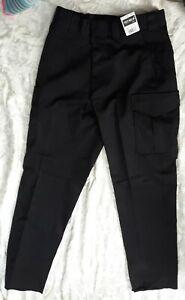 Tact squad Men 7002 Polyester Unhemmed Uniform Trousers Sz 32 Black Pants Slacks