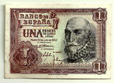 BILLETE DE 1 PESETA DE 1953 (MBC) MARQUES DE SANTA CRUZ (SERIE E)