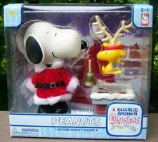 """Peanuts Charlie Brown Christmas 7"""" Santa Snoopy Figure Memory Lane Deluxe Nib"""