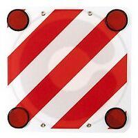 cartello targa segnaletica carico sporgente con rinfrangenti cm 50x50