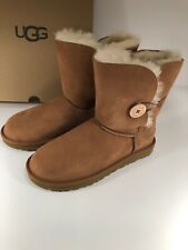 UGG Bailey Button II Chestnut Size 7 Women's Suede Boots 1016226