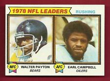 1979 TOPPS #3 RUSHING LEADERS WALTER PAYTON / EARL CAMPBELL RC OILERS BEARS R2