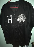 HUF Baseball Black Jersey Size Mens XL Stitched HUF World Wide Indian Head Rare