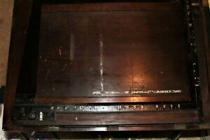 """Antique  Wood 20 16"""" x 20"""" two Bladed Enlarging Easel for Photo Paper Print"""