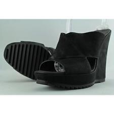 Vince Camuto Garton Women US 9.5 Black Wedge Sandal Blemish  12004