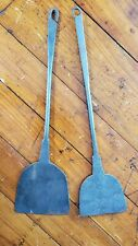 2 ANTIQUE HAND FORGED IRON BARBECUE SPATULAS