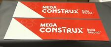 Lot Of (2) Mega Construx Toys R Us Store Display Sign 48X12 Double Sided Signs