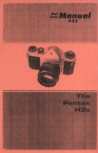 Pentax H3v Repair Manual NatCam Reprint: SV, H1a, H3, S3, H1, S1a, H2, S2