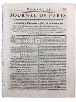 Docteur Niel 1788 Saint Florentin Yonne Miel Hyacinthe Rigaud Journal de Paris