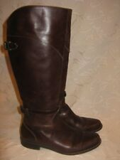 L.L. BEAN Brown Leather Knee High Riding Equestrian Boots Women's 6.5 B