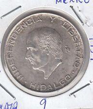 C.R 0244 MONEDA DE PLATA mexico 5 pesos 1957