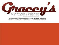 -Cherry Red- Gracey's Vintage Finishes Nitrocellulose Guitar Lacquer Aerosol.