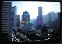 1986 Orig Slide~HONG KONG City Street View ~  photo vtg