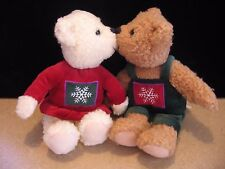 Hallmark Plush Mistletoe Christmas Kissing Kiss Bears Plush Stuffed Magnetic