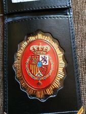 Cartera Porta Placa Con Placa metálica Guardia Real Roja
