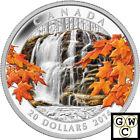 2014 'Autumn Falls' Colorized Proof $20 Silver Coin 1oz .9999 Fine (14045)