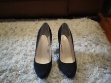 """WOMEN'S WITTNER """"LUSCIOUS"""" BLACK  SUEDE LEATHER  HIGH HEEL  SHOES - SIZE 36 / 5"""