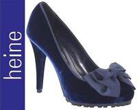 NEU: HIGHHEELS 10,5 cm ABEND SAMT PUMPS 39 DAVID BRAUN 149€ nachtblau *014966